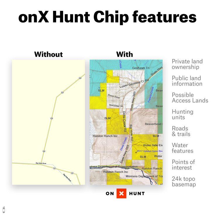 onXmaps HUNT Oregon Digital Hunting Map For Garmin GPS