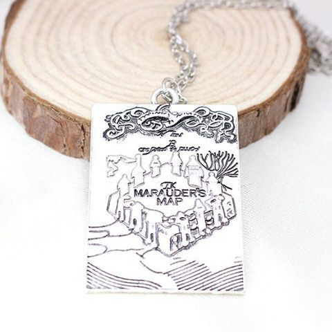 Marauders Map Necklace