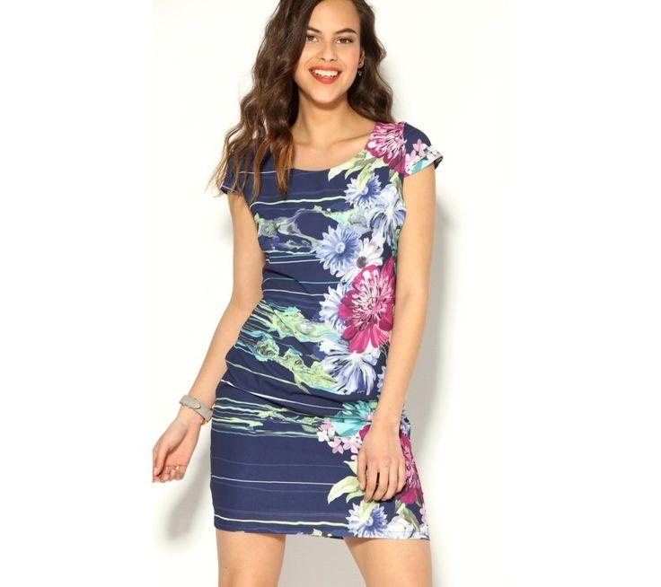 Krátke šaty s akvarelovou kvetinovou potlačou | modino.sk #ModinoSK #modino_sk #modino_style #style #fashion #summer #bestseller