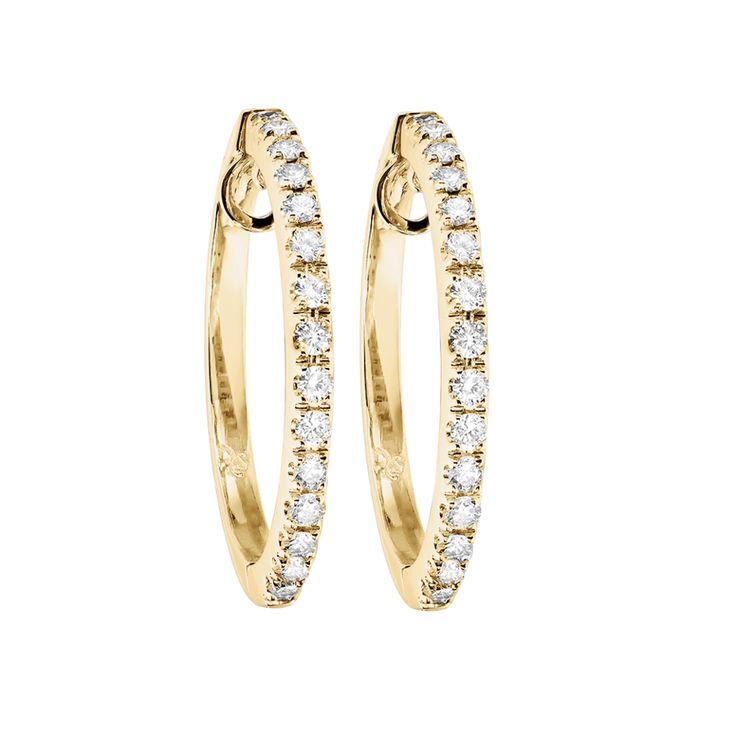 Diamant Creolen in Gelbgold | RENÉSIM