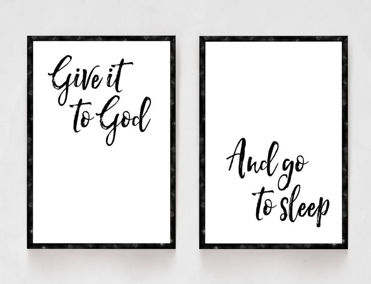 Give It To God And Go To Sleep  Bedroom Decor  Black and White Prints   Religious Art  Christian Artwork  His and Hers  Master Bedroom. Best 25  Bedroom art ideas on Pinterest   White bedroom decor