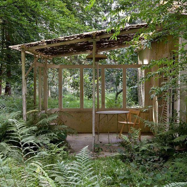 Binnenkort in onze Black Design Dit Is Belgisch: deze magische wildernis van tuinarchitect Jan Minne vlakbij Brussel, foto @frederik_vercruysse, tekst @leencreve #tuin #cabinporn