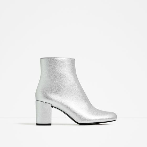 ZARA - WOMAN - LAMINATED HIGH HEEL ANKLE BOOTS