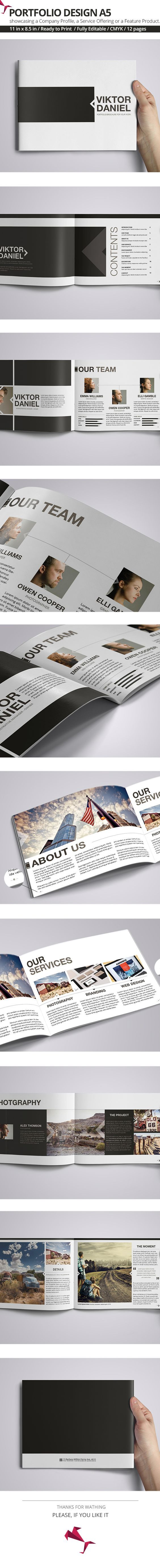 Viktor Daniel Portfolio Design A5 is a personal portfolio Indesign template, is a unique way of showcasing your work in a magazine style. You can insert Your own brands, images, text & change color of portfolio. This Indesign Files are Fully Editable. You…:
