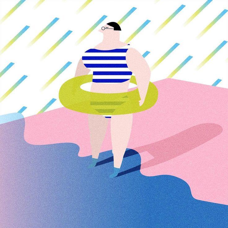 春の海水浴