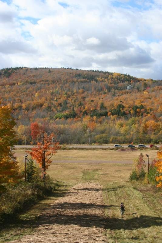 Near the bottom of Wentworth Ski Hill in the fall.