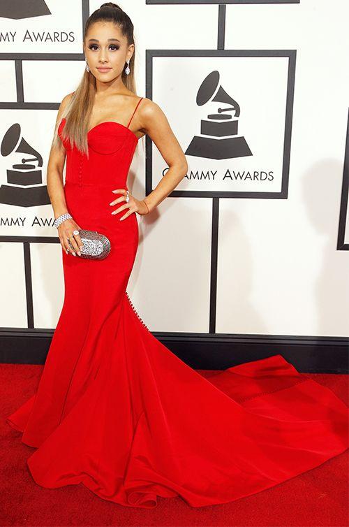 Pop Superstar, Ariana Grande wears Romona Keveža - 58th annual Grammy Awards