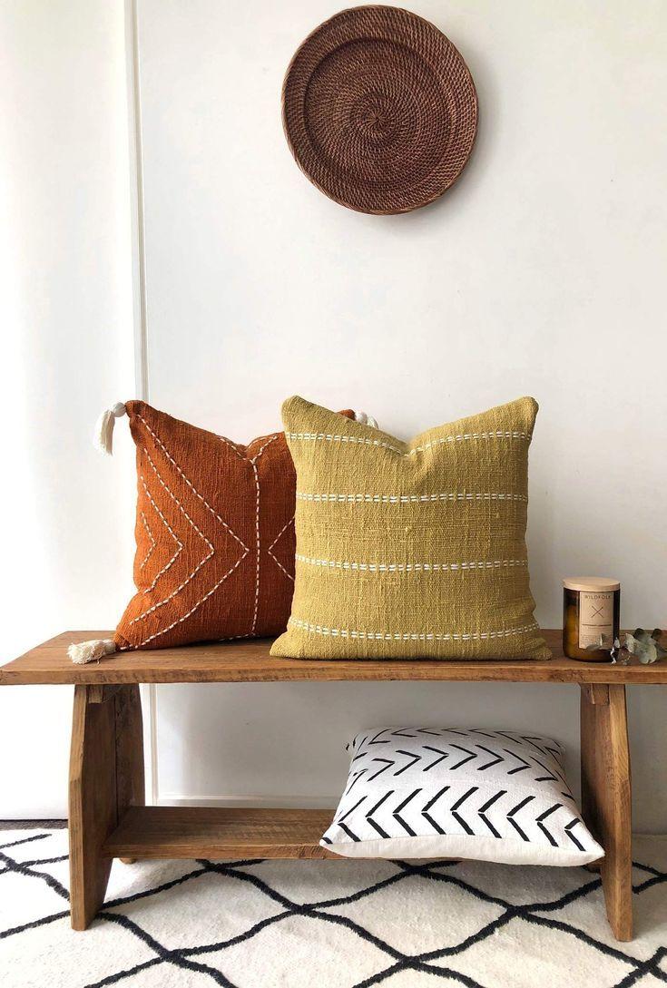 Dijon mustard raw cotton | Boho pillows