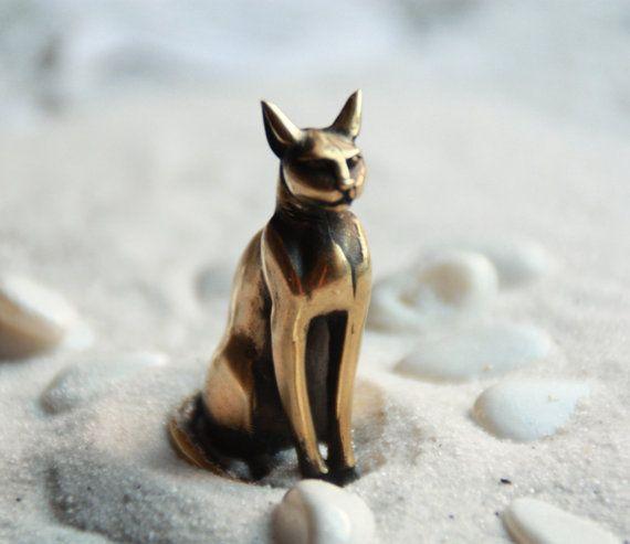 Cadeau de la déesse-chat Bastet Bast égyptien déesse Egypte chat Figurine chat égyptien: la Figurine de Bronze