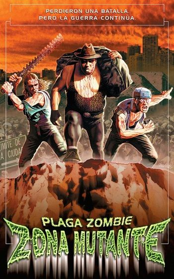 'Plaga Zombie: Zona Mutante' is the sequel to the low budget Argentine cult zombie-splatter film 'Plaga Zombie'. This follow-up is written, directed and acted by the same cast and crew that made the first film such a madcap, and gore-filled, delight. Find out more: http://thezombiesite.com/plaga-zombie-2-zona-mutante-2001/