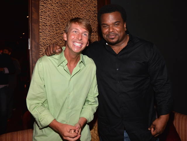 WESTWOOD, CA - JUNE 03: Actors Jack McBrayer and Craig Robinson attend the after party for Columbia Pictures' 'This Is The End' premiere at W Hotel Westwood on June 3, 2013 in Westwood