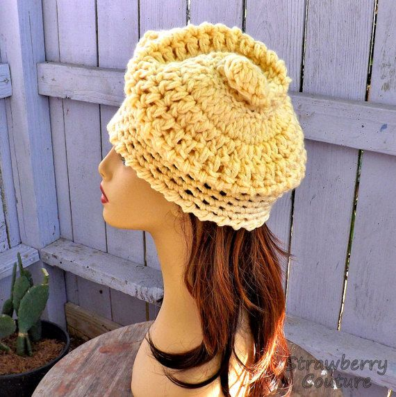 Unusual Gifts Unique Gift for Women Crochet Beanie Women Crochet Hat Womens Hat Cream Hat SWIRL Beanie Hat Swirl Hat by strawberrycouture by #strawberrycouture on #Etsy
