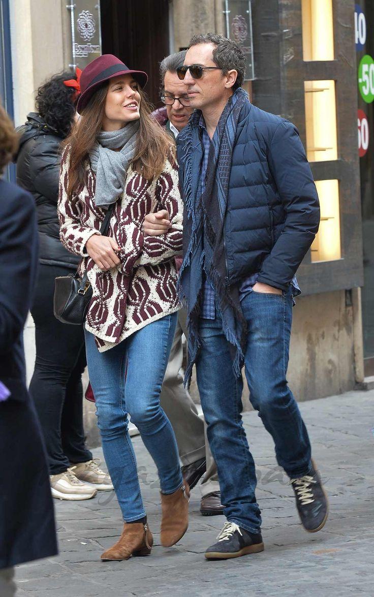 beautifulcharlotte:  Charlotte Casiraghi and Gad Elmaleh in Rome, January 2015