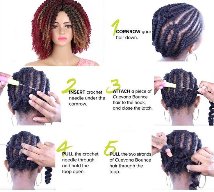 3PCS Mali Bob Curly Crochet Braid Ombre Havana Mambo Synthetic Hair Extensions | eBay
