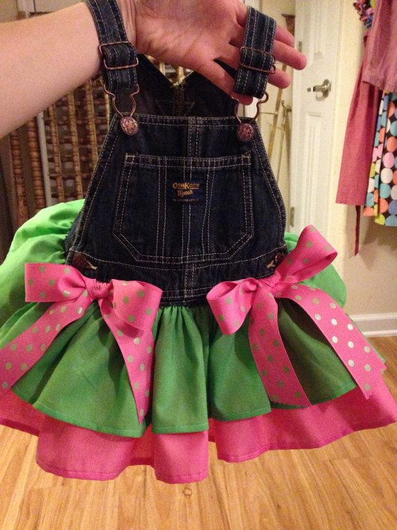 custom Overall tutu dress by AnnabelliesBoutique on Etsy