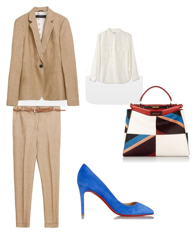 Classical suit by the925editor on Polyvore featuring Zara, Christian Louboutin and Fendi