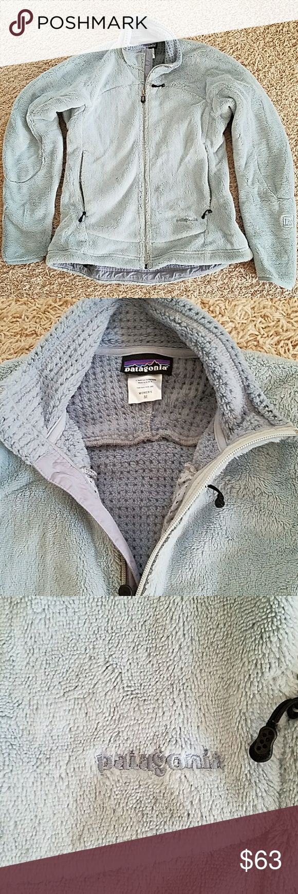 Patagonia fleece jacket Thick winter Patagonia fleece, light blue. Great condition. Patagonia Jackets & Coats