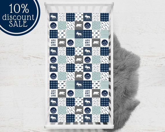 rustic baby bedding rustic crib sheet rustic by TheLittlePillow