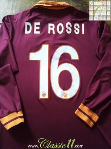 Relive Daniele De Rossi's 2013/2014 season with this original AS Roma home football shirt.
