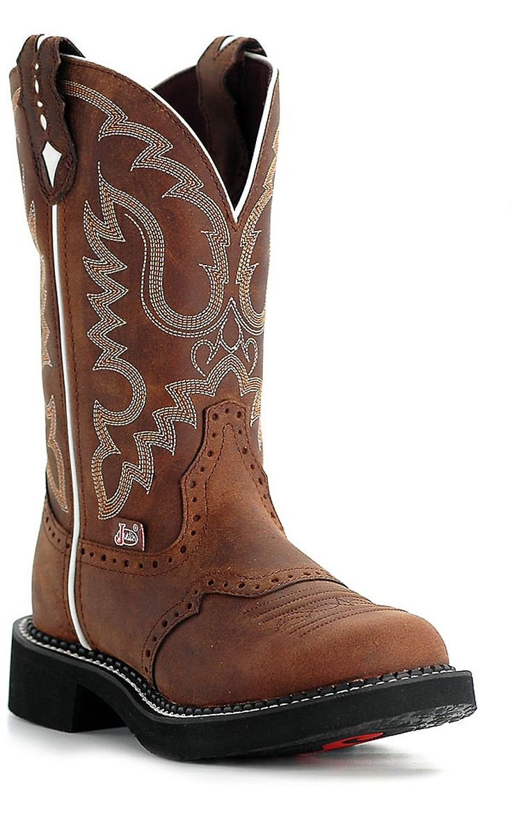 Justin® Ladies Gypsy™ Collection Boots - Distressed Brown Cowboy Boots