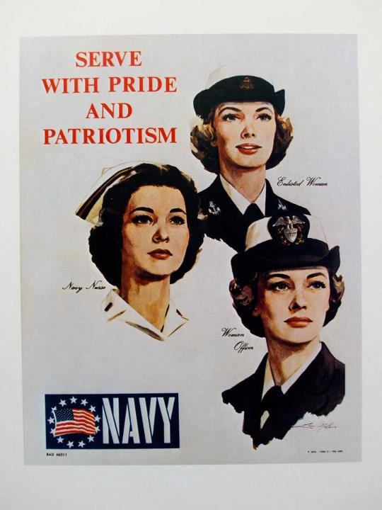 Navy Recruiting poster, WWII.  Puget Sound Naval Museum, Bremerton, WA.  My Pic.