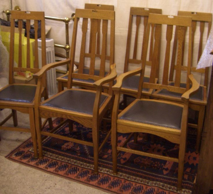 Set Of 6 Glasgow Style Dining Chairs