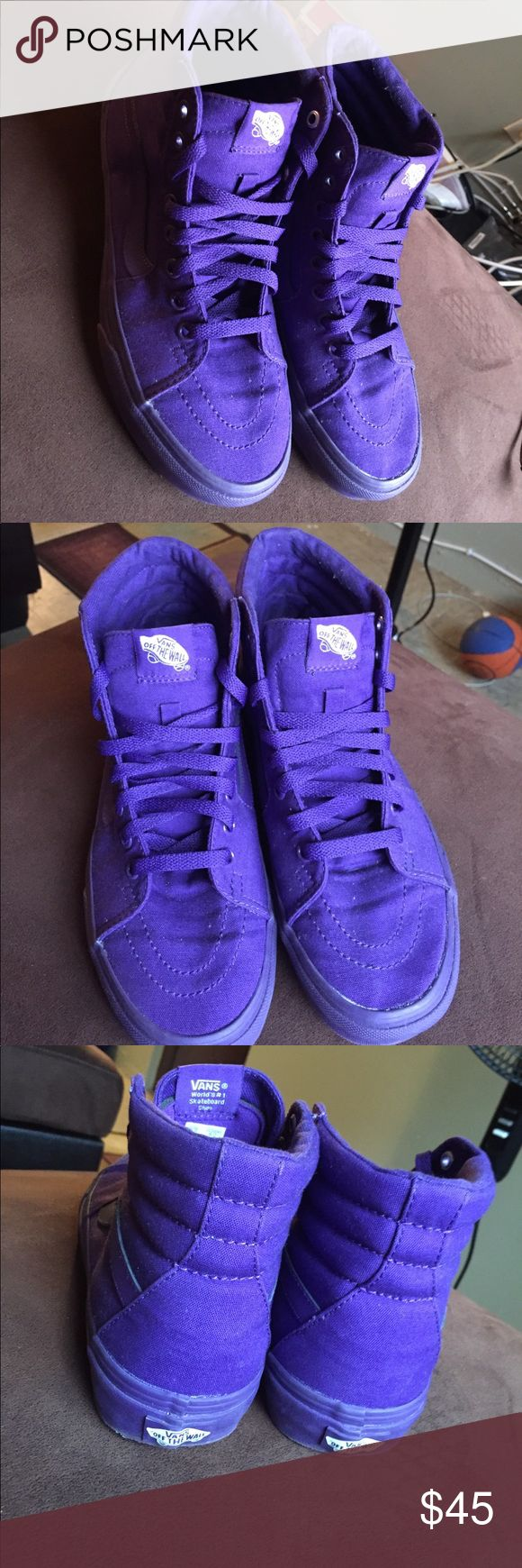All Purple VANS Size 6.5 in Men and 8.0 in Women All Purple VANS , Only Worn Once , Which Was My Birthday And Never Worn AGIAN , I Don't want them to just collect dirt in my closet so why not give them to somebody Vans Shoes Sneakers