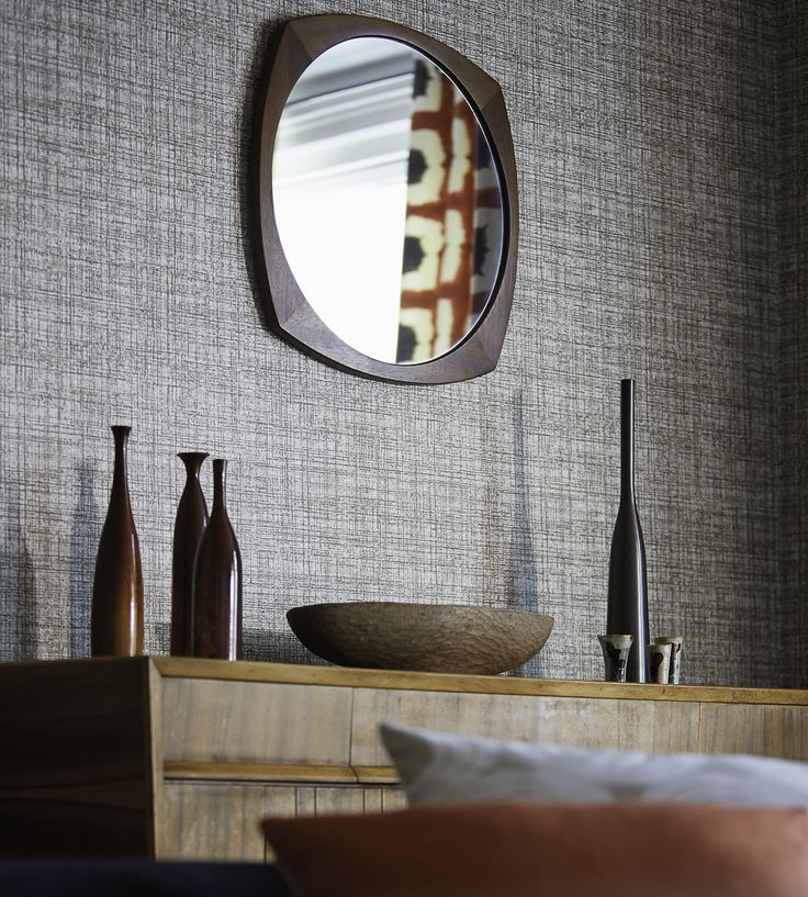 Interior Design Classic, Retro | Khadi Wallpaper by Scion | Jane Clayton