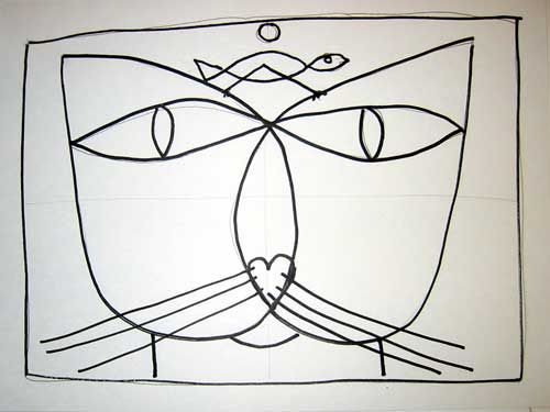 Paul Klee Paintings The Cat   Step #5: Use your choice of mediums to finish your project. Check out ...