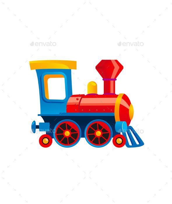 Toy Train Cartoon Kids Illustration