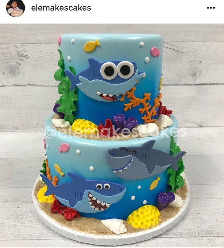 Baby Shark Cake Let Them Eat Cake Shark Birthday Cakes