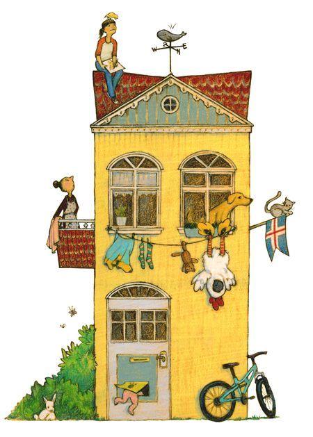 Billedresultat for hus illustration