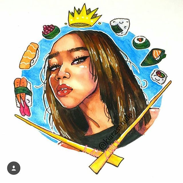 Thank you so much at @kiarasstudio for this super dope image of me I love it!😍 Go check out her speeddrawing of me on her youtube!  #art #drawing #fanart #love #happy #cute #inspiration #illustration #rawsueshii #artist #Godisgoodallthetime