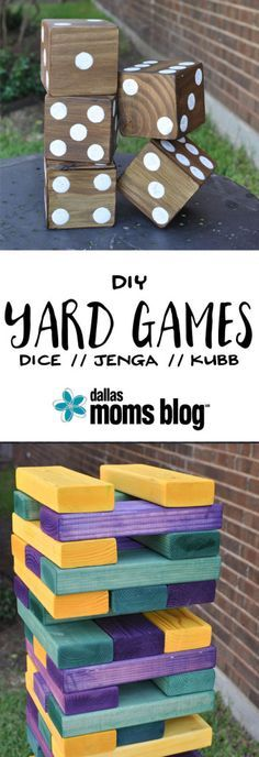 DIY Giant Summer Backyard Games | Dallas Moms Blog
