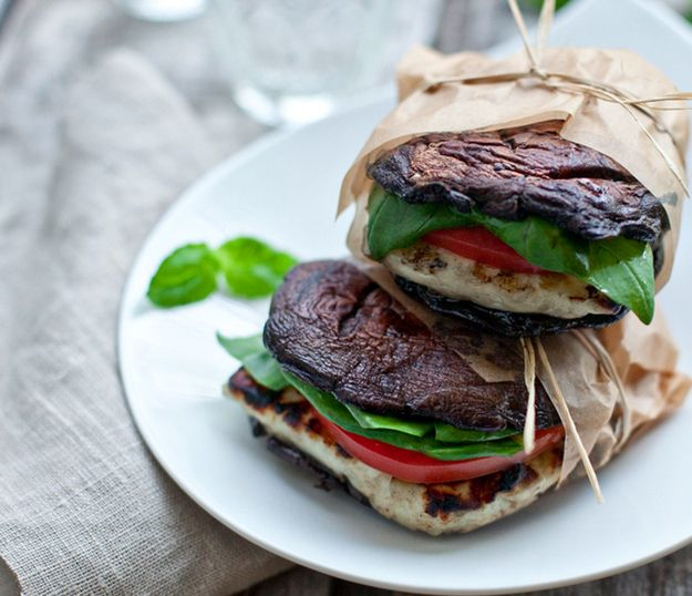 """Portabella and Halloumi """"Burgers"""" 