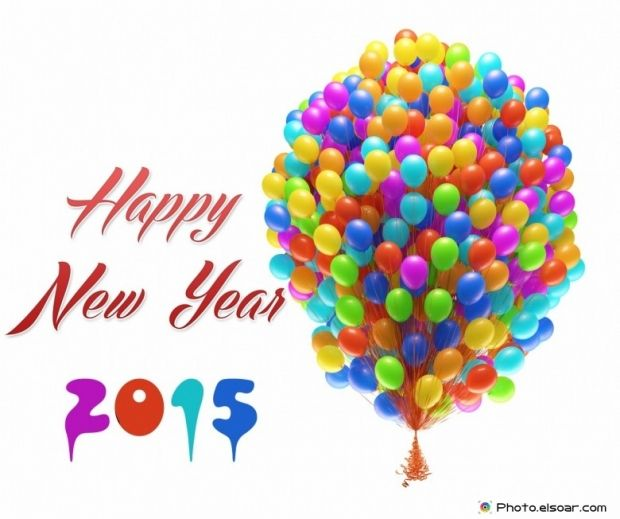 Top 10 Wallpapers For Happy New Year 2015 With Colorful Balloons | Amazing Photos