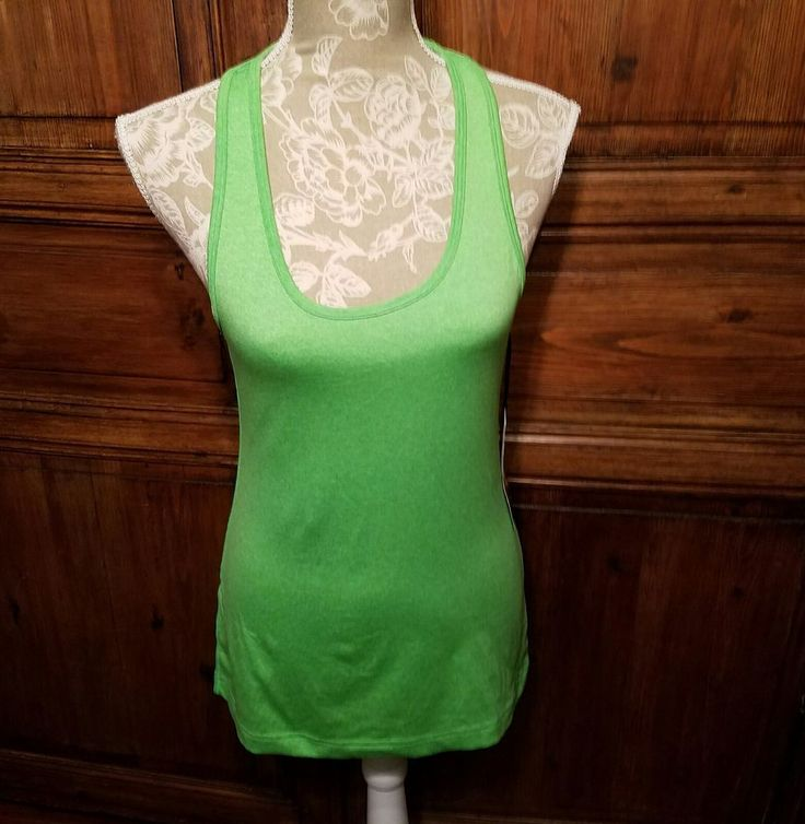 90 DEGREE by REFLEX Size M Sport Yoga Tank NWT $44 Kelly Green HTR Athletic Top #90degreebyreflex #ShirtsTops #90degree