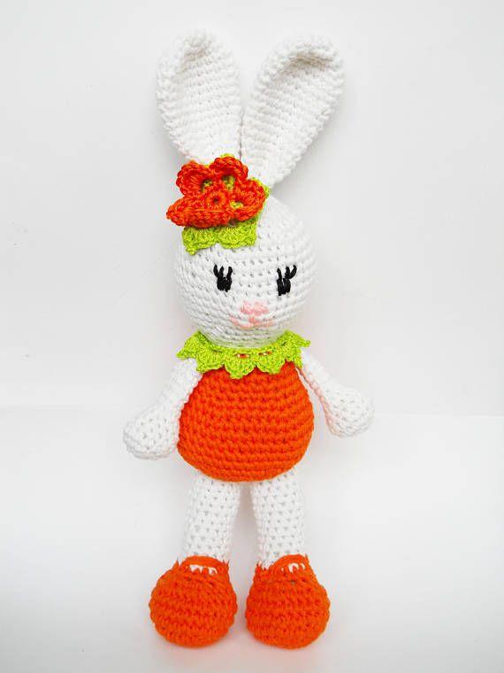 Crochet Amigurumi PATTERN: Bunny , Crochet Tutorial, Knitted Rabbit pattern PDF, How to Crochet, Handmade Toy DIY, crochet toys, download
