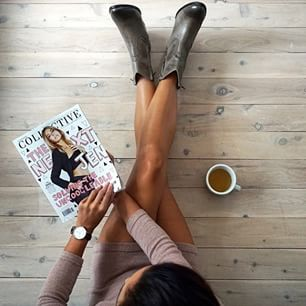 Down time with Shiralee Coleman + our BOSS western boot. #BloggerLove #AW15 Shop > http://tinyurl.com/lwfxkxu
