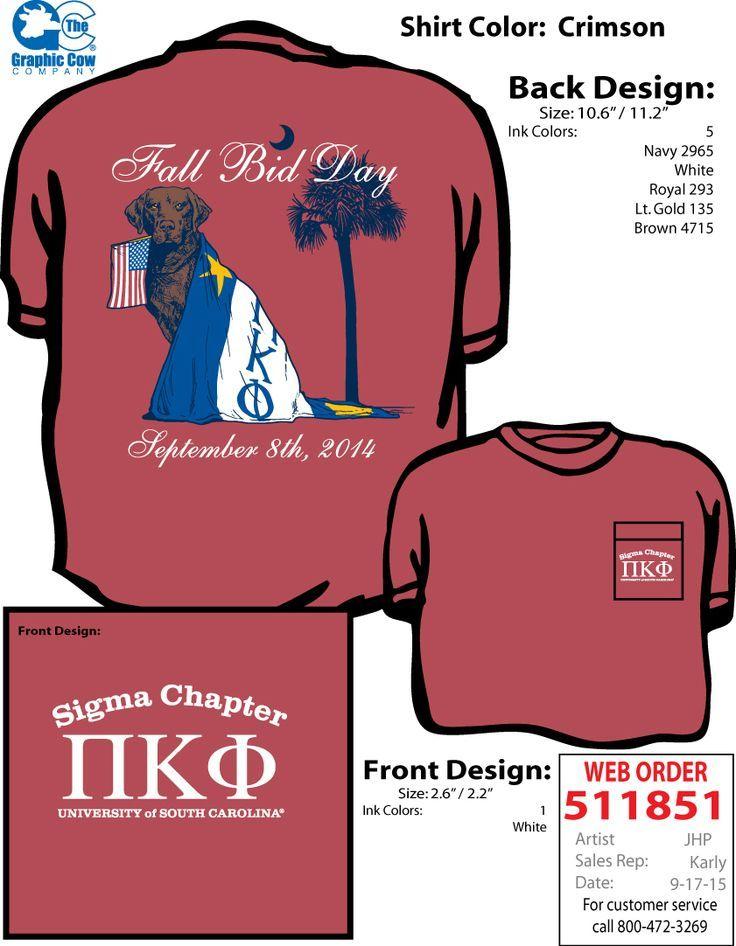 Pi Kappa Phi, Fall bid day, dog, flag, palmetto and crescent