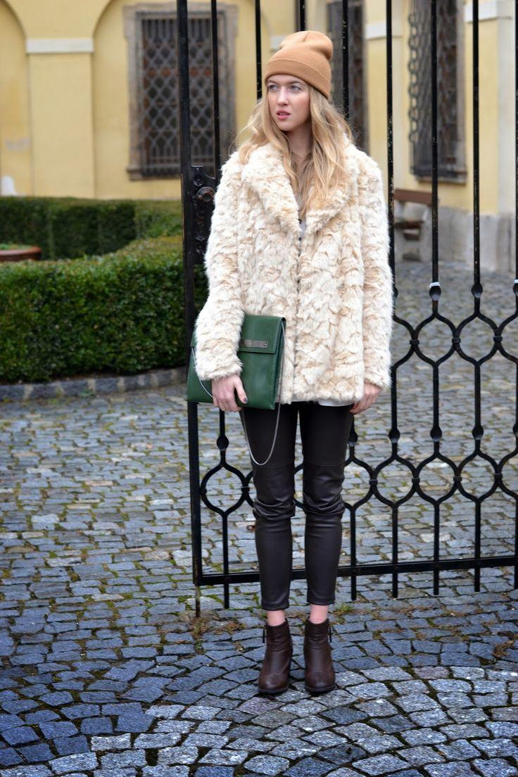 Style of Lucie Redlich: faux fur coat Zara