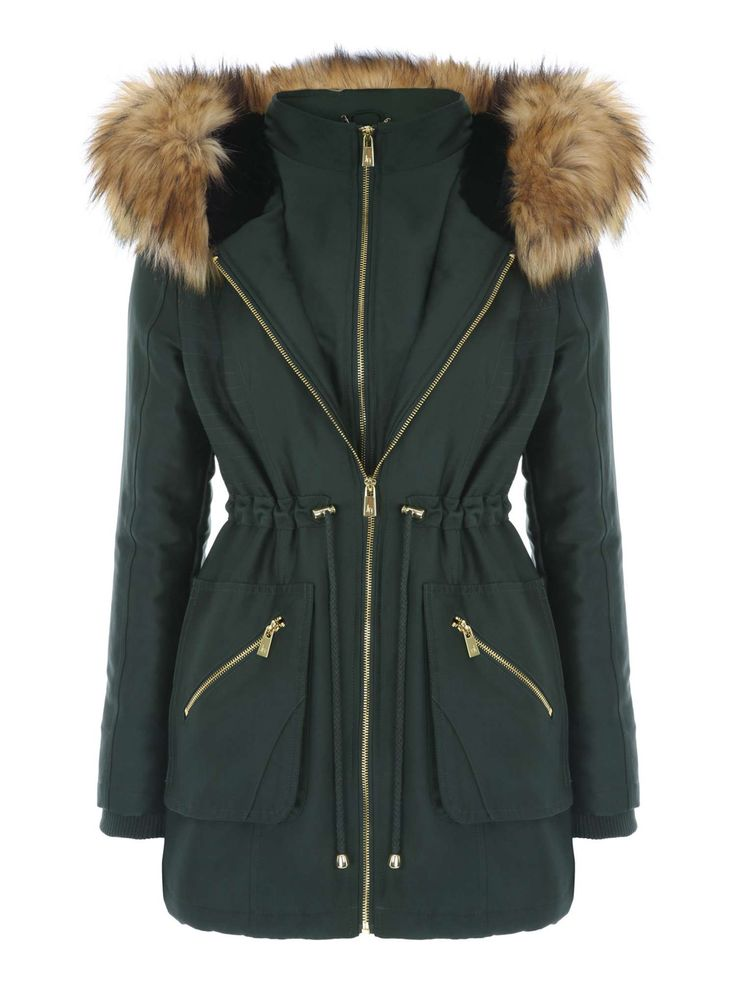 Buy your Jane Norman Double Zip Fur Hood Parka Coat online now at House of Fraser. Why not Buy and Collect in-store?