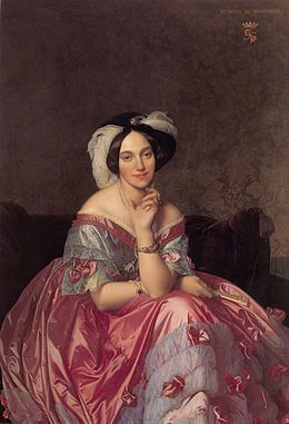 Baronne James de Rothschild ~ Jean-Auguste-Dominique Ingres ~ (French, 1780-1867)