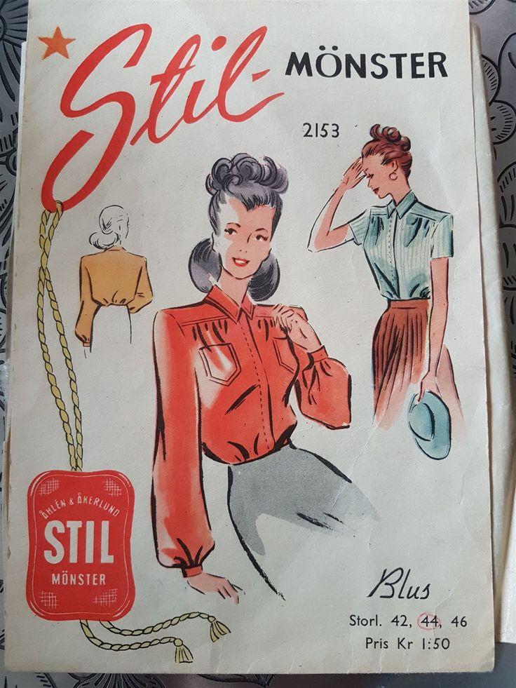 STIL 2153  symönster 40/50-tal - vintage retro lindy rockabilly