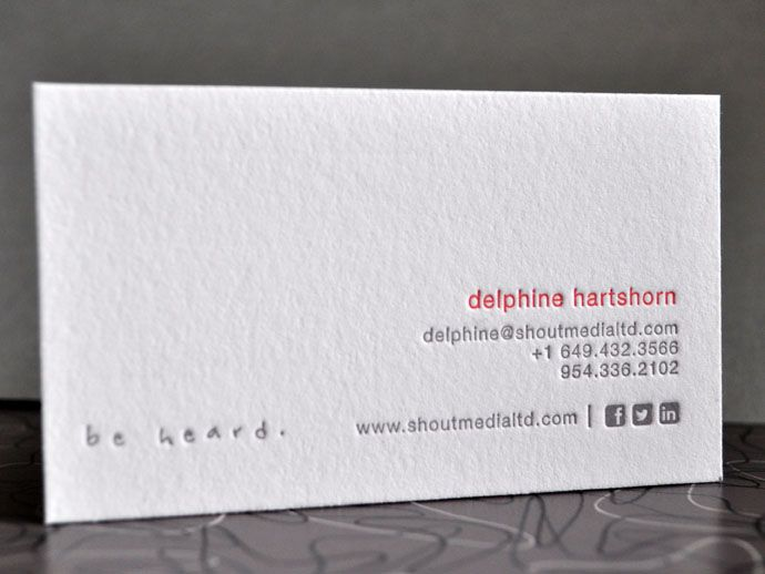 17 Best images about Letterpress Business Cards and Stationery on – Letterpress Business Card