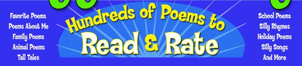 Funny poetry for children at GigglePoetry. Lots of class activities including poetry theater for reading aloud.