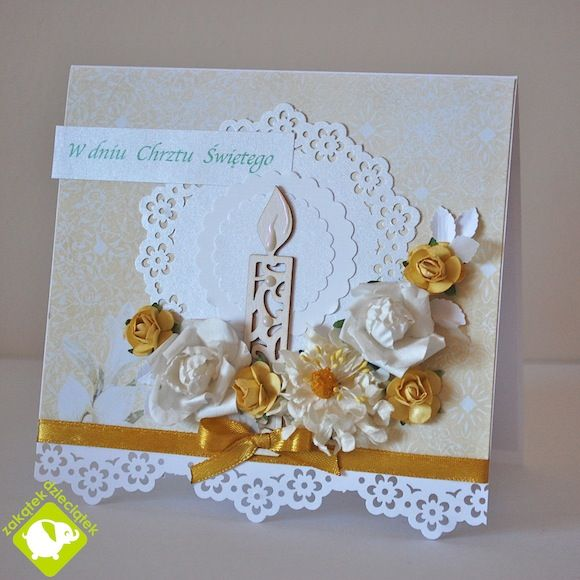 Card Making Ideas Baptism Part - 24: Christening Card With A Candle - Scrapbook.com