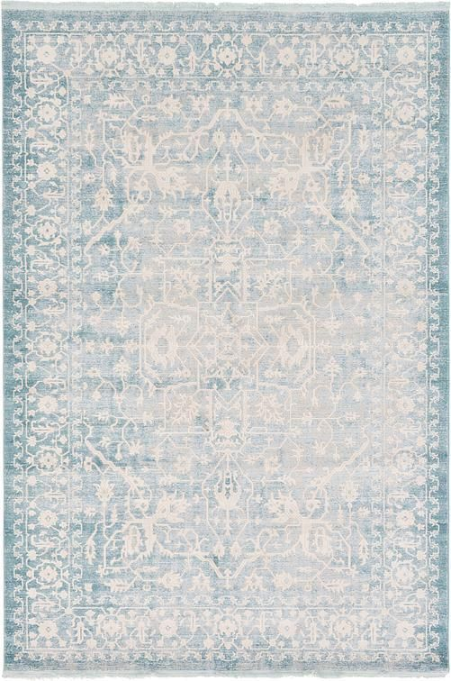 Light Blue New Vintage Area Rug