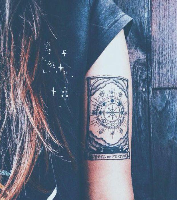 Astro : le tatouage roue de la fortune