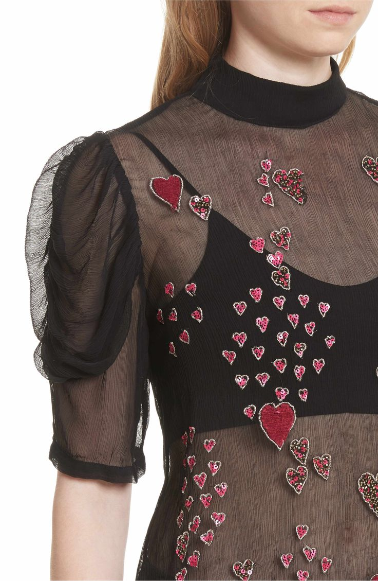 Main Image - Free People So in Love Embroidered Blouse